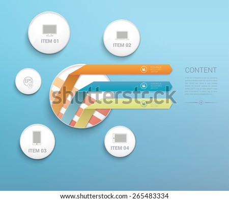 Abstract Colorful Info Charts Demonstration Arrow Composition - stock vector