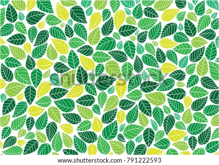 Abstract Colorful Leaves Background Pattern