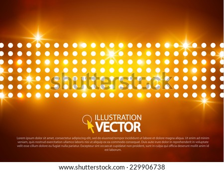 Abstract colorful light background.  Vector illustration - stock vector