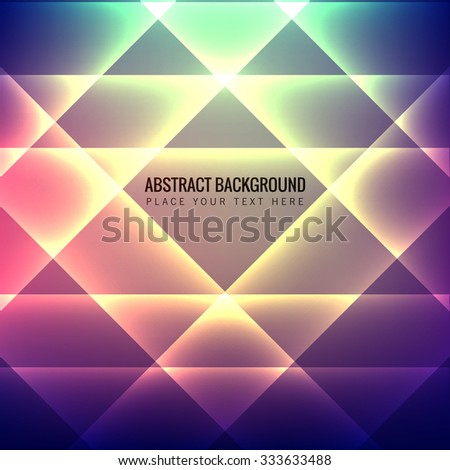 Abstract colorful light effect glowing background Vector - stock vector