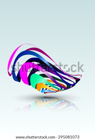 Abstract Colorful Lines Background, Vector Illustration