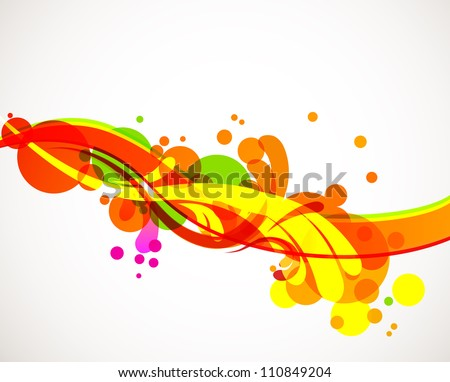 Abstract colorful liquid splashes. Cool eps10 vector background - stock vector