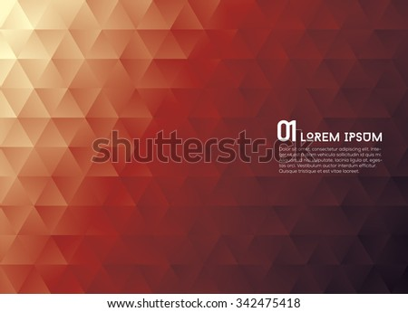 Abstract Colorful Low poly Vector Background. Vector illustration. - stock vector