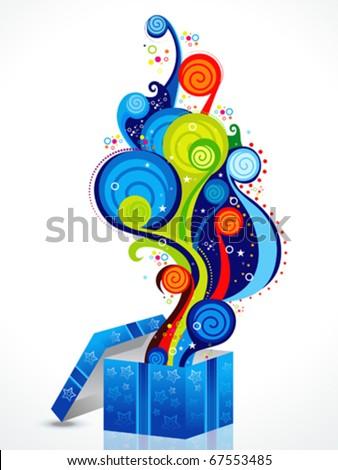abstract colorful magic box vector illustration - stock vector