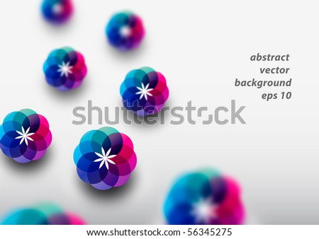 Abstract colorful modern background design (eps10) - stock vector