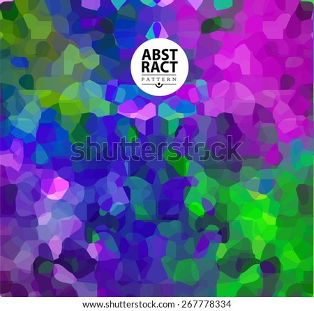 Abstract colorful mosaic background for design. Polygonal illustration - stock vector