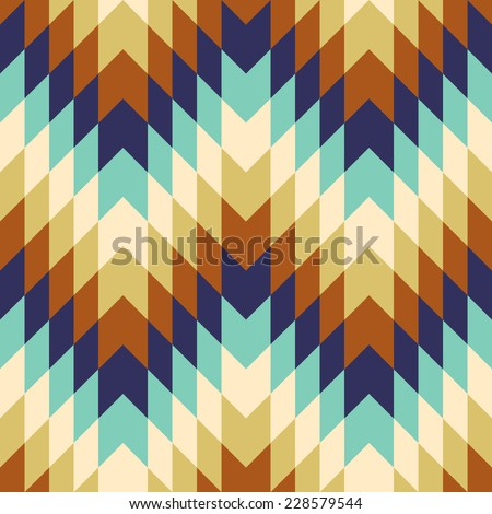 Abstract colorful mosaic. Seamless pattern of geometric shapes in vector.  - stock vector
