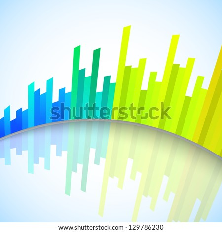 Abstract colorful musical volume background, banner, poster or flyer.
