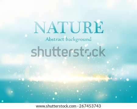 Abstract colorful nature bokeh background. Vector illustration eps 10