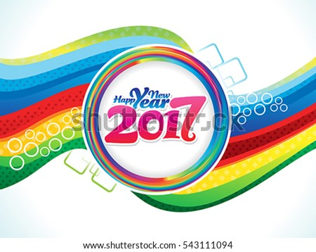 abstract colorful new year background vector illustration