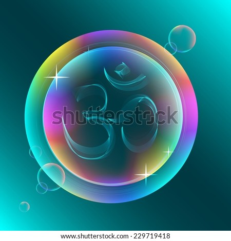 Abstract colorful OM sign, beautiful illustration, Vector - stock vector