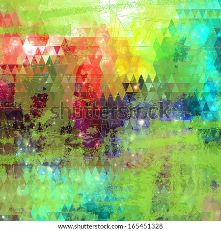 Abstract colorful painting background with grunge style design