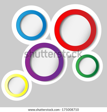 Abstract colorful paper circles