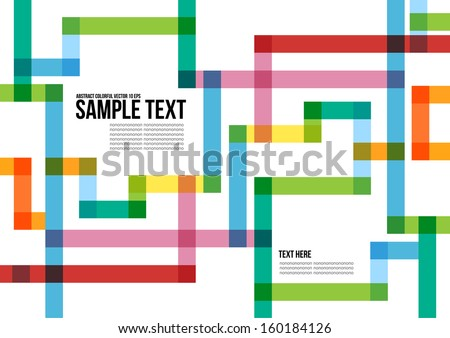 Abstract colorful pattern background cover layout stock for Colorful brochure design