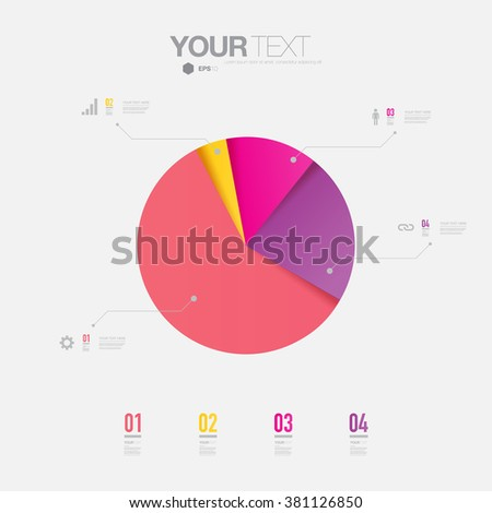 Abstract colorful percentage diagram design with simple background  can be used for workflow layout, diagram, chart, pie, number options, presentation, web design. Eps 10 stock vector illustration - stock vector