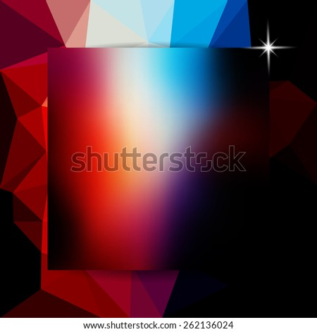 abstract colorful polygon background, vector illustration