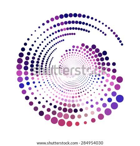 Abstract colorful  purple swirly illustration, logo design - stock vector