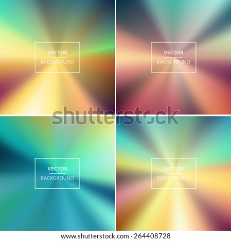Abstract colorful radial blurred vector backgrounds.  Wallpaper for website, presentation or poster design - stock vector