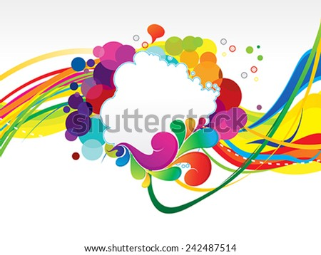abstract colorful rainbow explode background vector illustration - stock vector