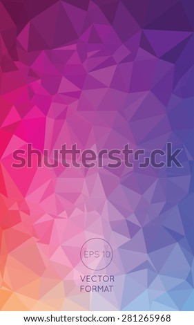 Abstract colorful rainbow triangular low poly style vector background,Vector illustration - stock vector