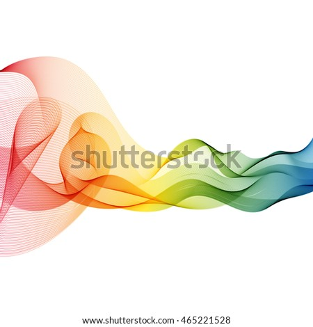 Abstract colorful rainbow wave background. Vector illustration.