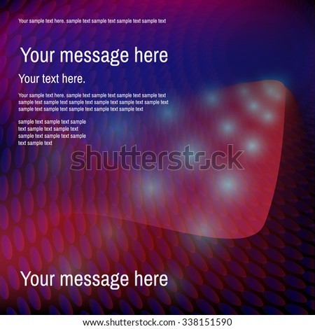 Abstract colorful  red and  blue spotted background. Place for your text.Vector illustration. - stock vector