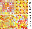 abstract  colorful retro  pattern set - stock vector