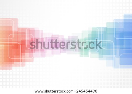Abstract colorful rounded squares vector background. - stock vector