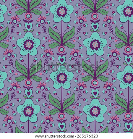 Abstract colorful seamless floral background - stock vector