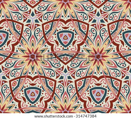 Abstract Colorful Seamless Kaleidoscopic Vector Background - stock vector