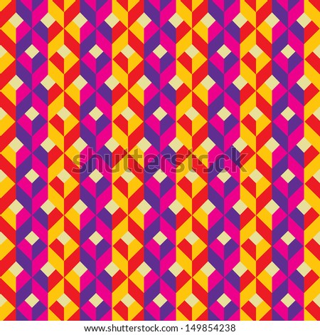 Abstract Colorful Seamless repeating tile background.Vector EPS10