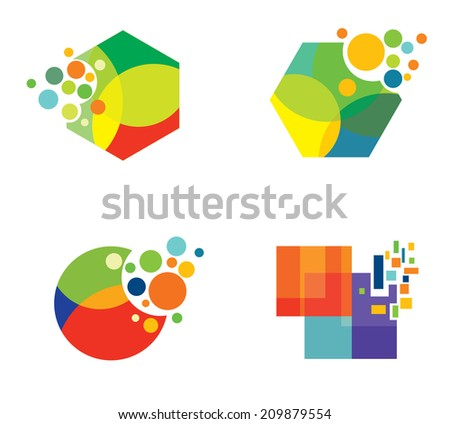 Abstract colorful shapes
