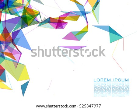 Abstract Colorful Shapes on White Background | EPS10 Futuristic Design
