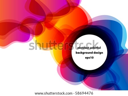 Abstract colorful shiny modern background design (eps10) - stock vector
