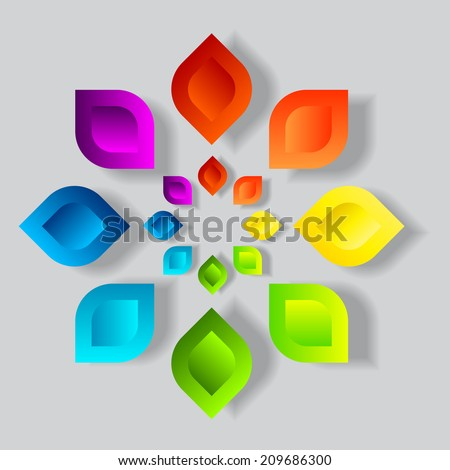 Abstract colorful signs  - stock vector