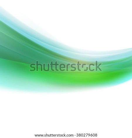 abstract colorful smooth curve background isolate on white background, vector illustration