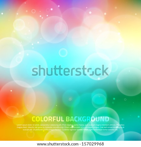 Abstract colorful soft blurry background for your card design - stock vector