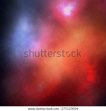 Abstract colorful space background with stars. Vector illustration EPS10 - stock vector
