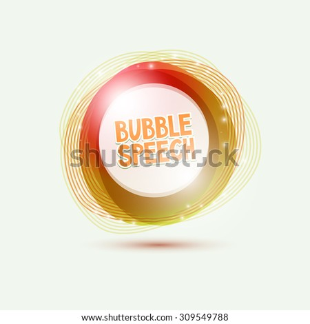 Abstract colorful speech bubble - stock vector