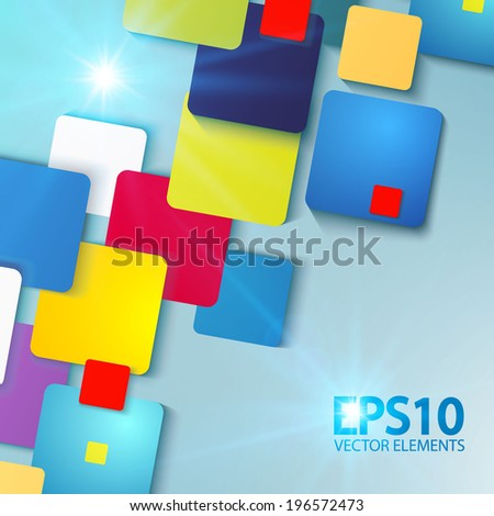 Abstract colorful square background. Vector illustration