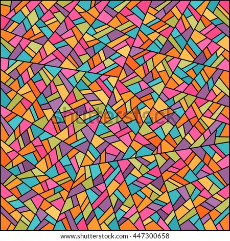 Abstract colorful stained glass background. Easy to change colors. Vector background for banner, poster, flyer, card, postcard, cover, brochure. - stock vector