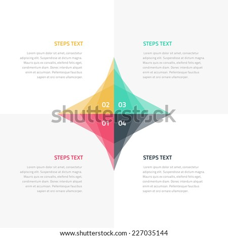Abstract colorful step by step infographics - eps10 vector illustration - stock vector