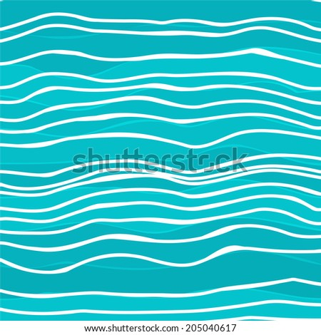Abstract colorful striped wave background. Vector illustration