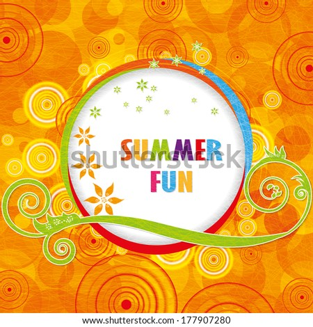 Abstract colorful summer fun background eps10 illustration - stock vector