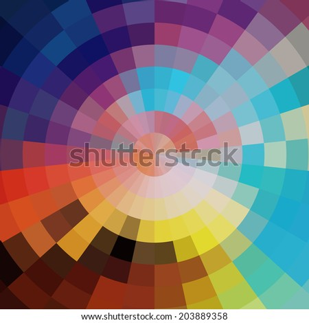 Abstract colorful summer mosaic festive  vector background - stock vector