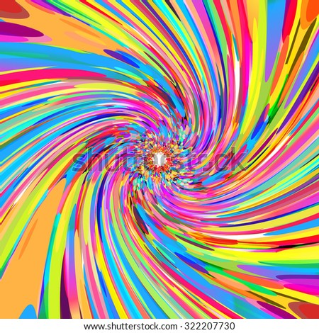 abstract colorful swirl vector background - stock vector