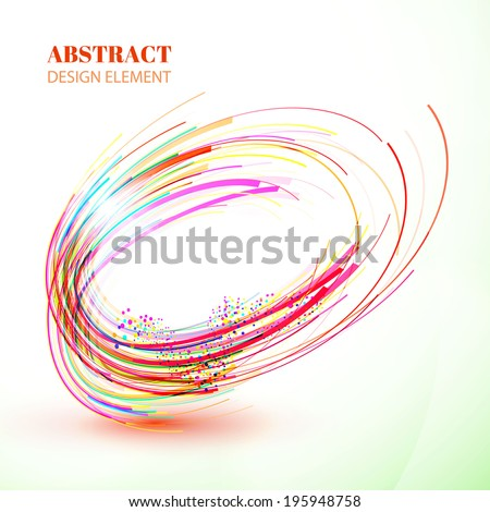 Abstract colorful swirl vector element - stock vector
