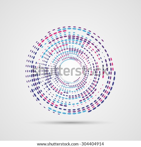 Abstract Colorful Swirly Illustration. Modern design. Vector - stock vector