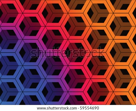 Abstract colorful techno background.Vector. - stock vector