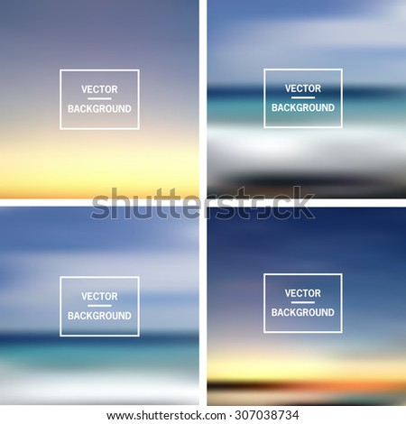 Abstract colorful template blurred vector backgrounds.  Elements for your website, application, banner, presentation. - stock vector